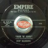 "45Re ✦ SKIP MANNING ✦ ""Ham'n'Eggs / Devil Blues"" Fantastic Jiver Floorfiller ♫"